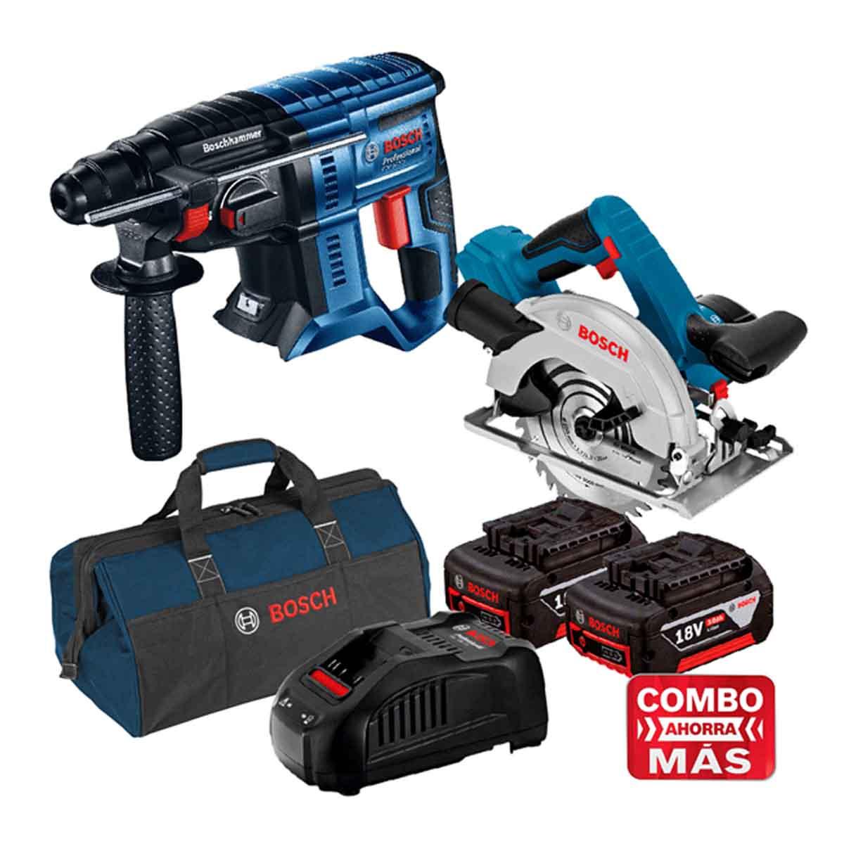 Sierra + Taladro 18V + 2 Baterias + Cargador + Maleta Bosch