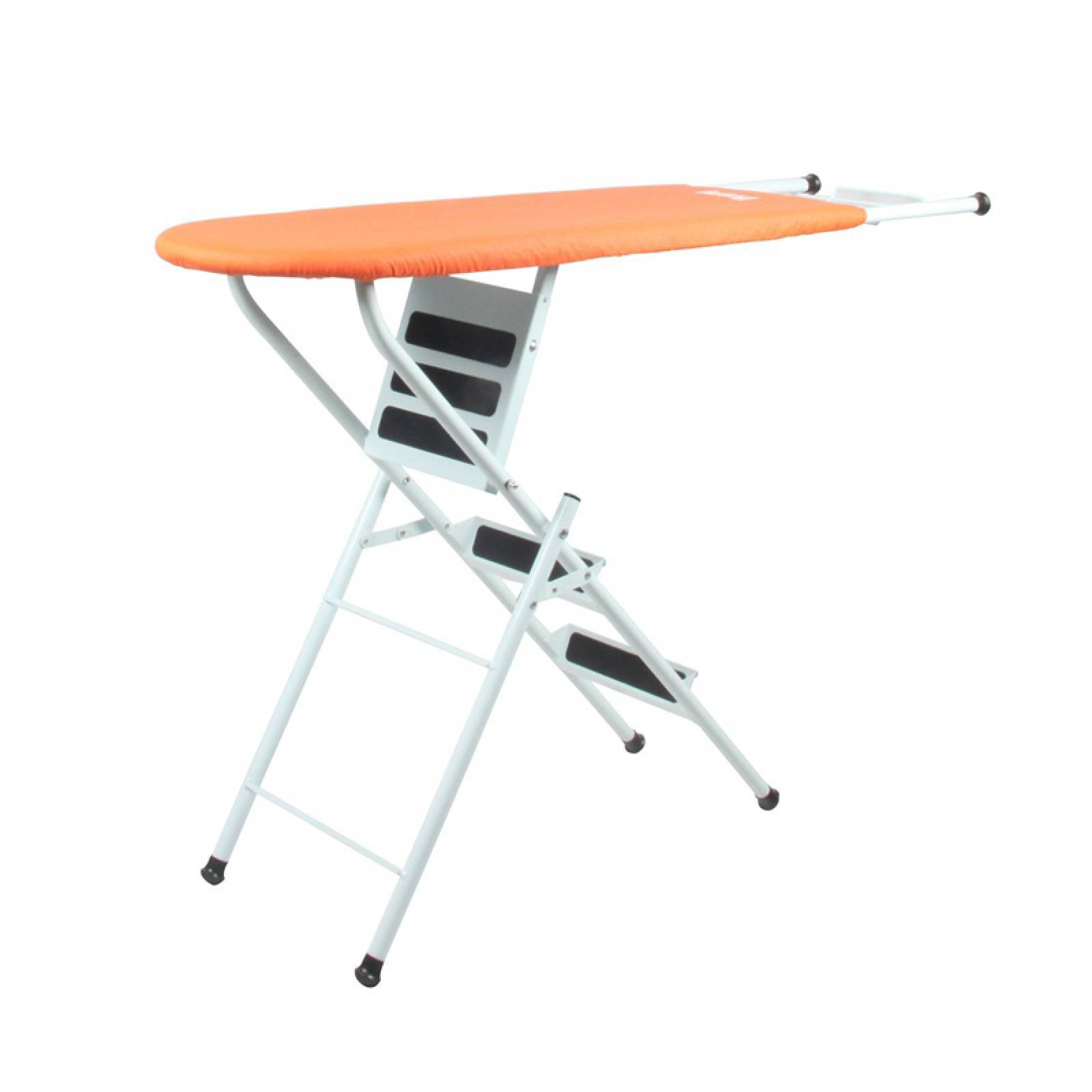 Escalera Burro Para Planchar De Metal Color Naranja Brandgap