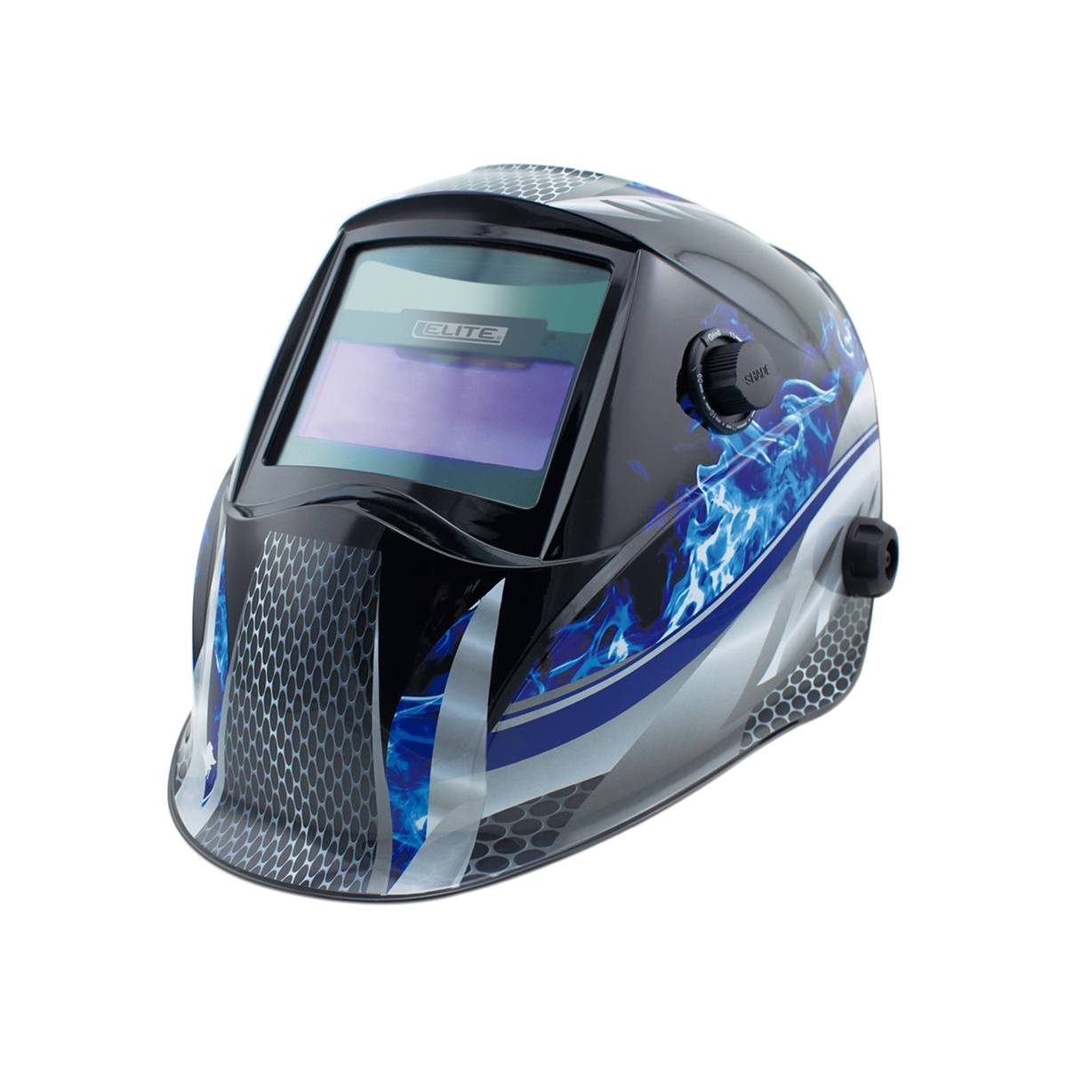 Careta para Soldador Electronica Carbon Flama Azul 510 Elite