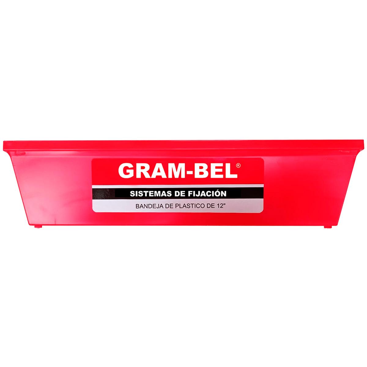 Bandeja Rectangular Mezcla Tablaroca de Plastico 2L Gram-bel