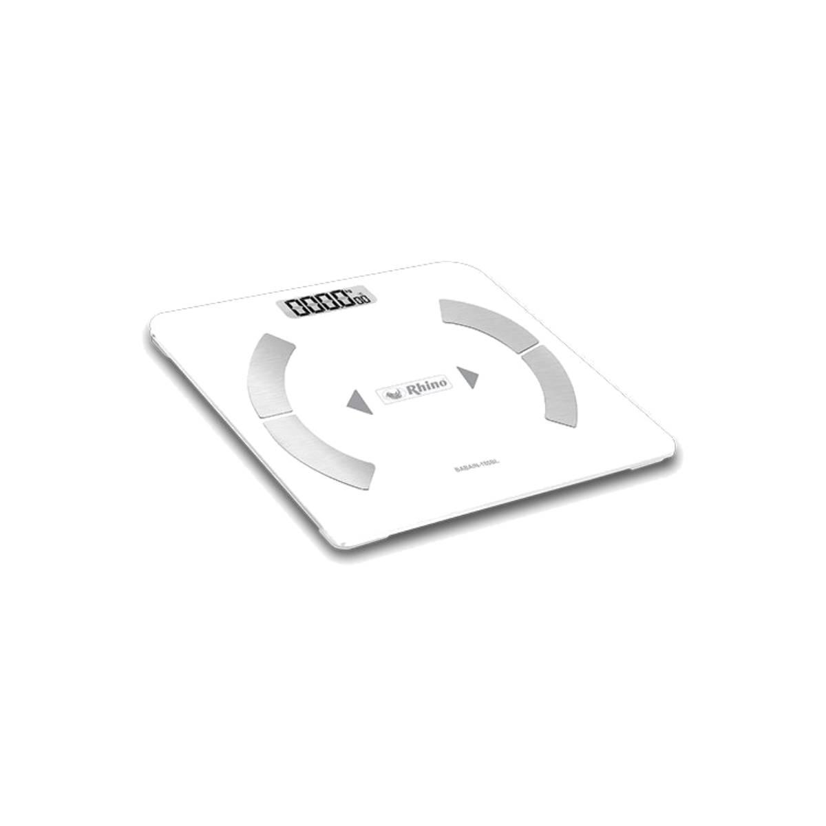 Bascula Intelige Corporal Bluetooth 180kg a100g Blanca Rhino