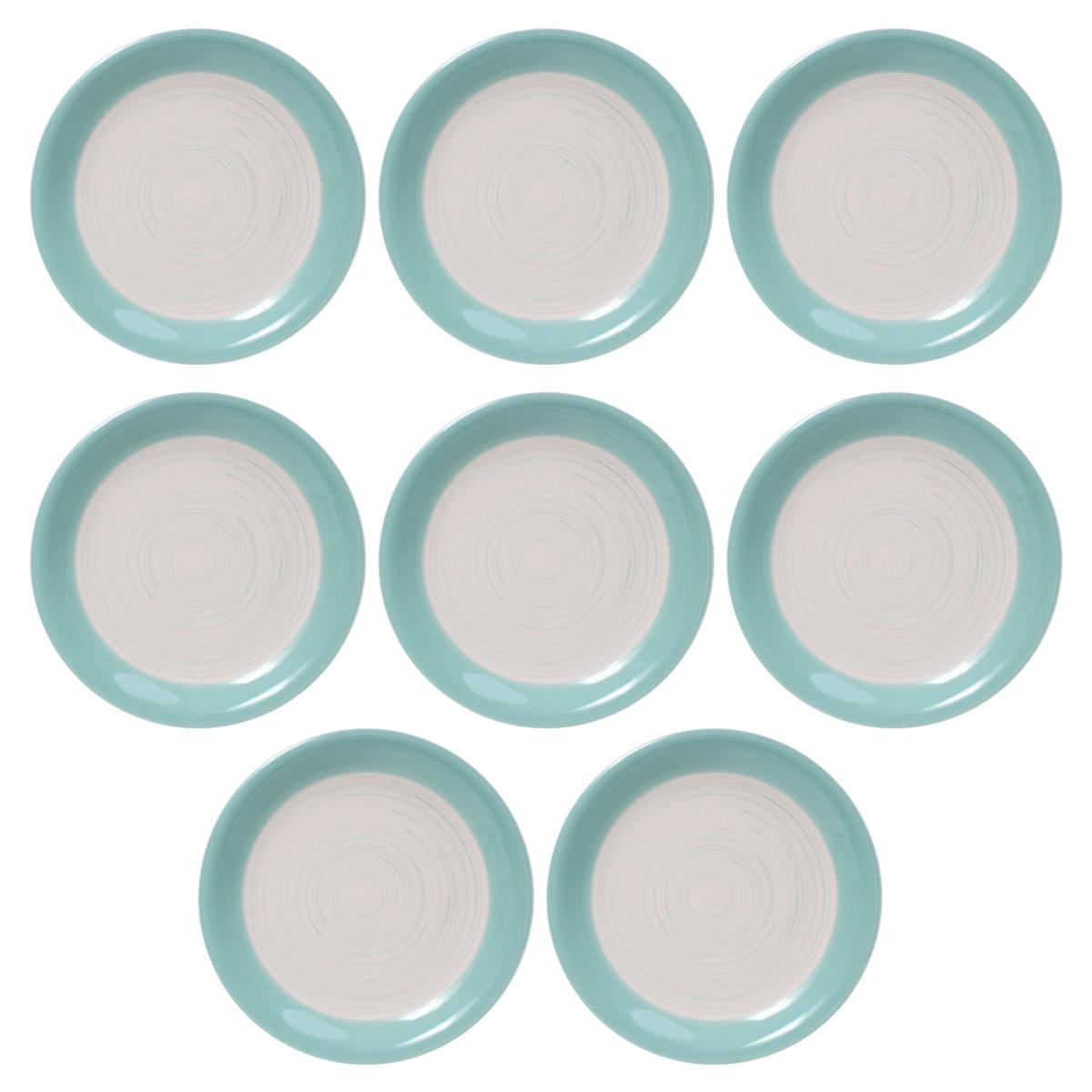 Set Platos Ensaladero Mesa Ceramica 8 Pz Crown Baccara