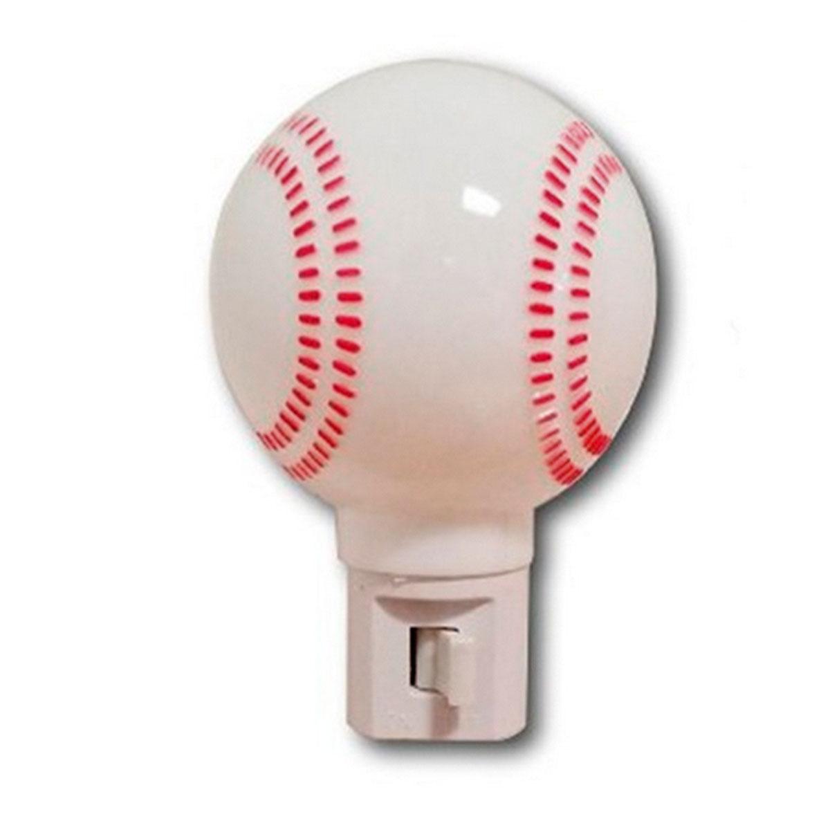 Lampara Luz De Noche Pelota Beisbol Niños Hogar Recamara Foy