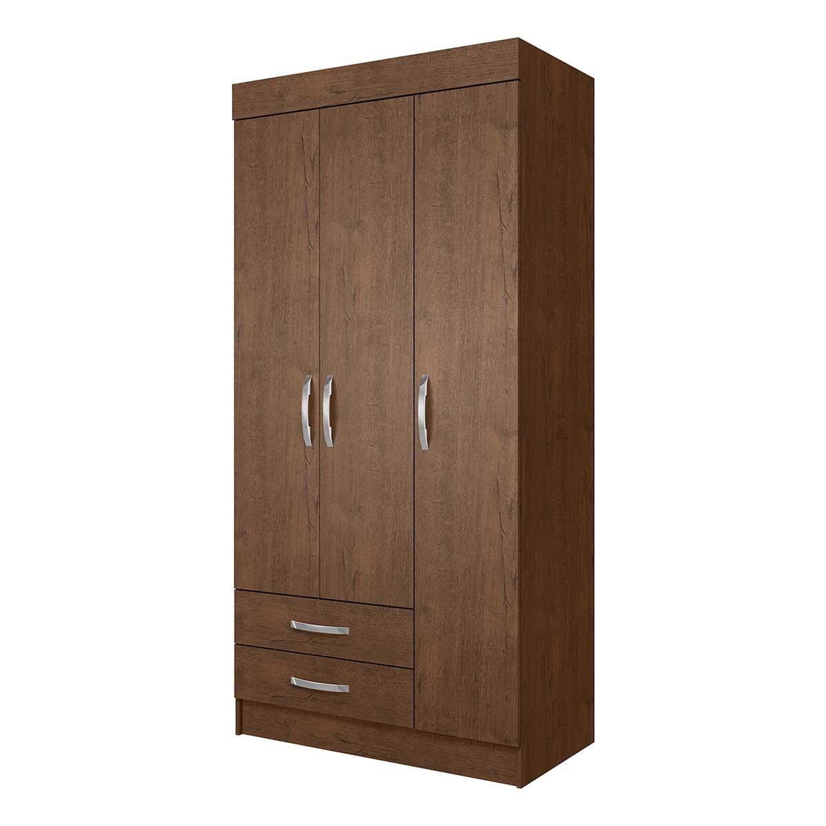 Ropero Closet Armario Mueble Moderno 3 Puertas 2Cajones Casa