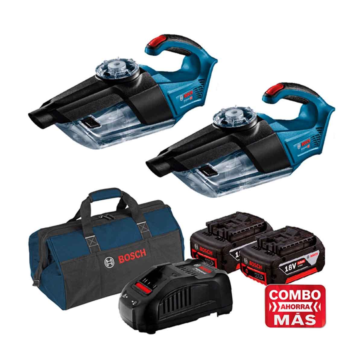 Aspiradora 18V 2 Pzs +2 Baterias + Cargador + Maleta Bosch