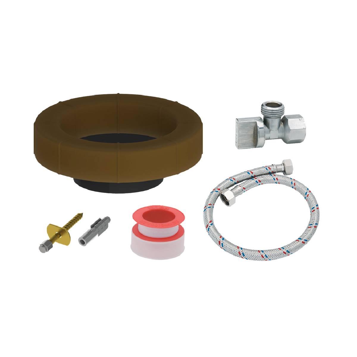 Kit De Instalacion Basico Para Wc Baño Sanitario Kiwc02 Dica