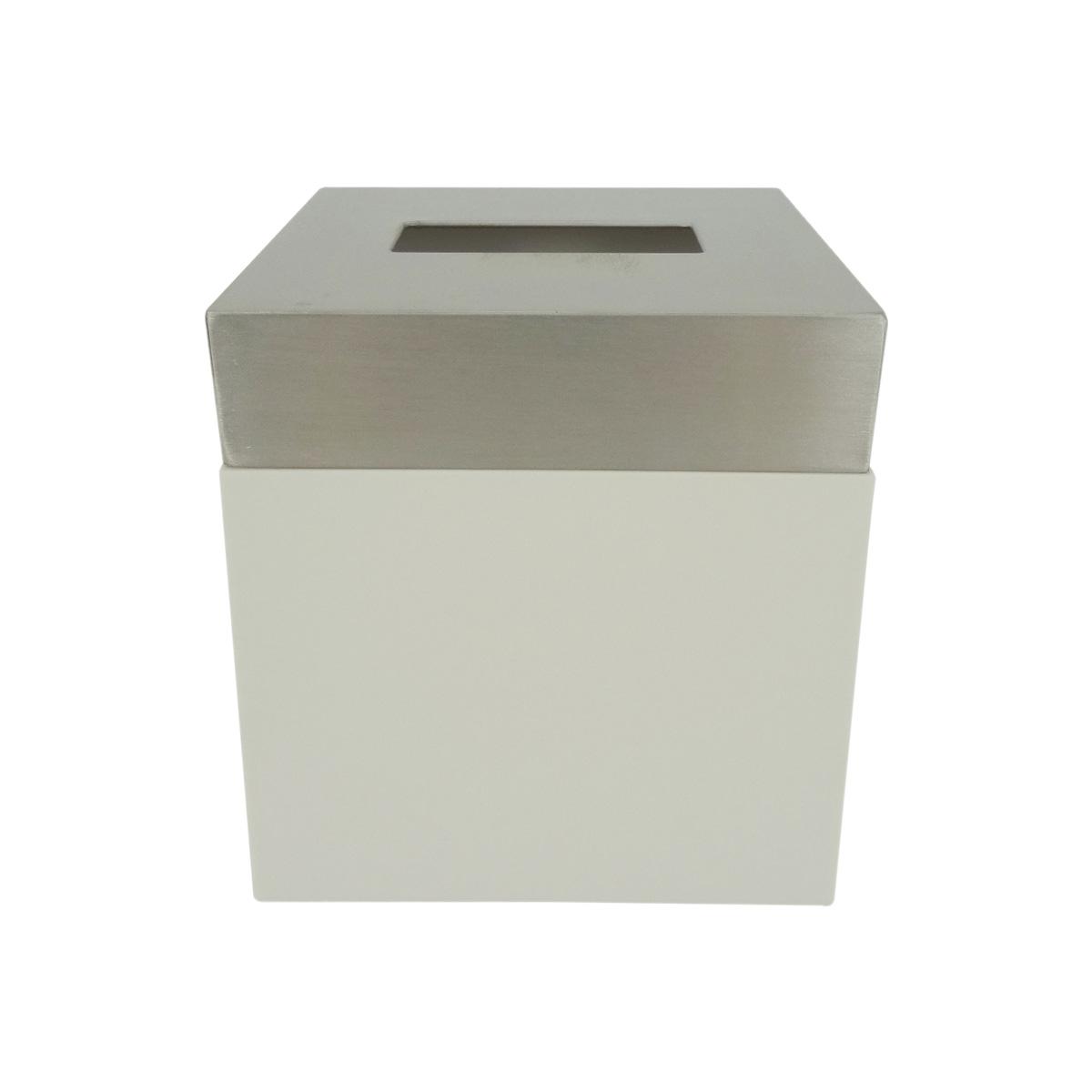 Porta Kleenex Acero Inoxidable Pvc Blanco BA-423249 Namaro Design