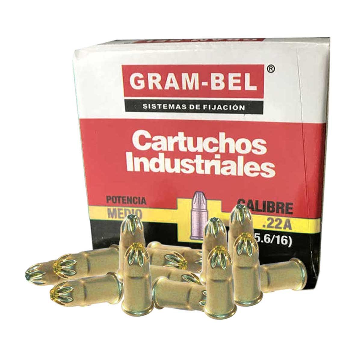 Cartucho Amarillo Cal 22 100 Pzs De Pistola Impacto Gram-Bel
