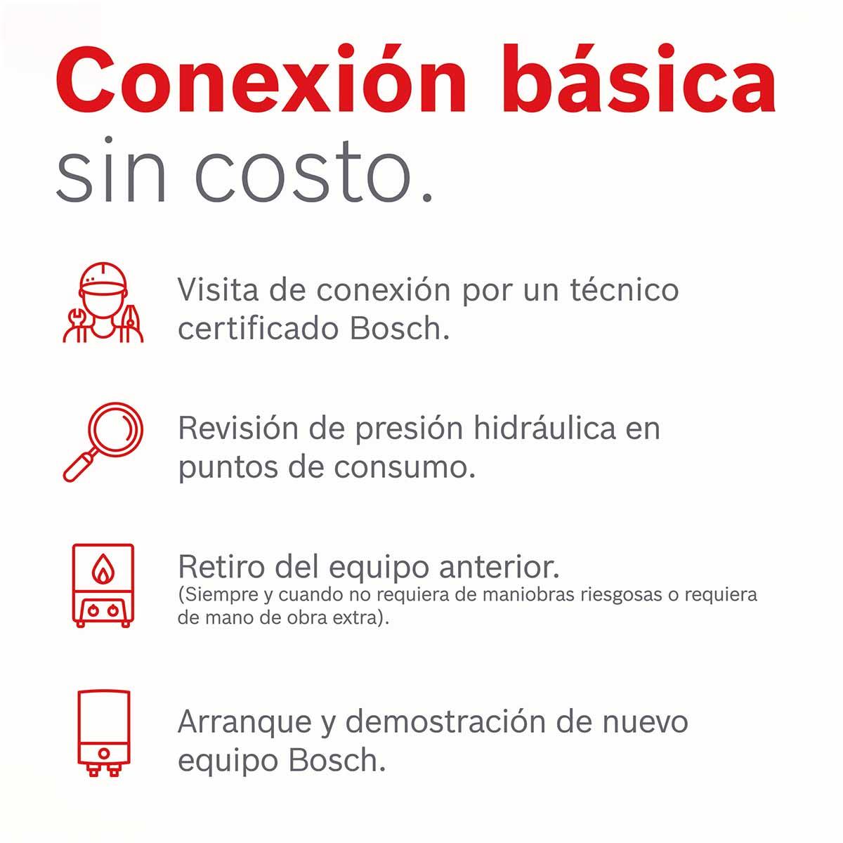 Calentador Paso Wi-Fi 4 Servicios Balanz 20 Gas Lp Bosch