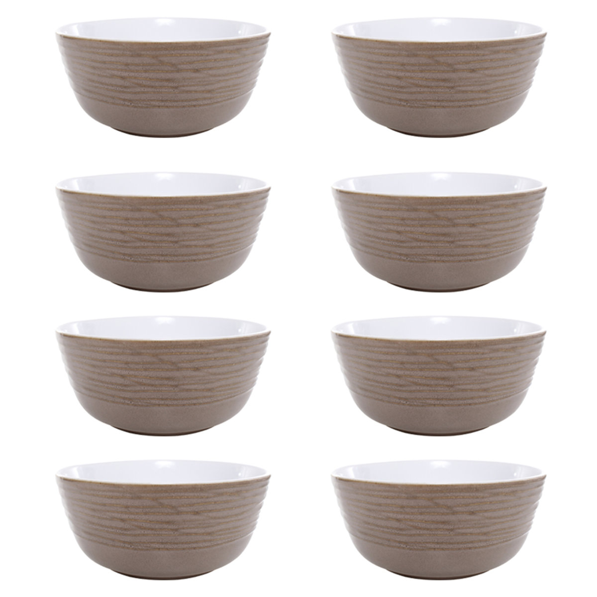 Bowl Tazon Mesa Set Redondo De Ceramica 8 Pz Crown Baccara