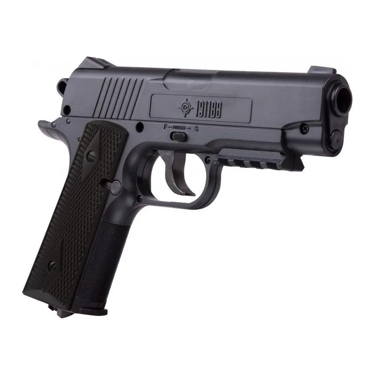 Pistola Polimero 1911BB CO2 Cal 4.5 Mira Espada Caza Crosman