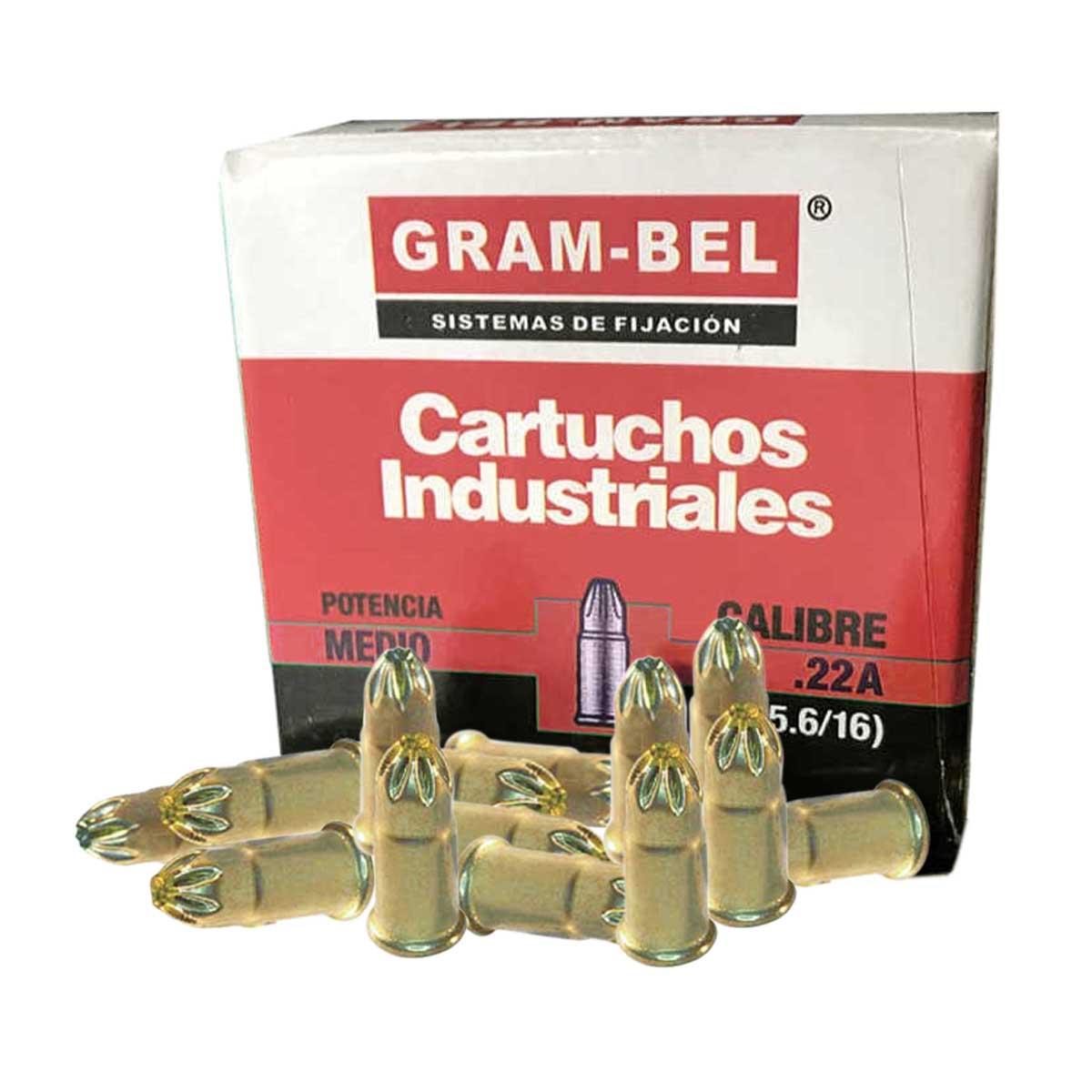 Cartucho Suelto Rojo Cal22 100Pz De Pistola Impacto Gram-Bel