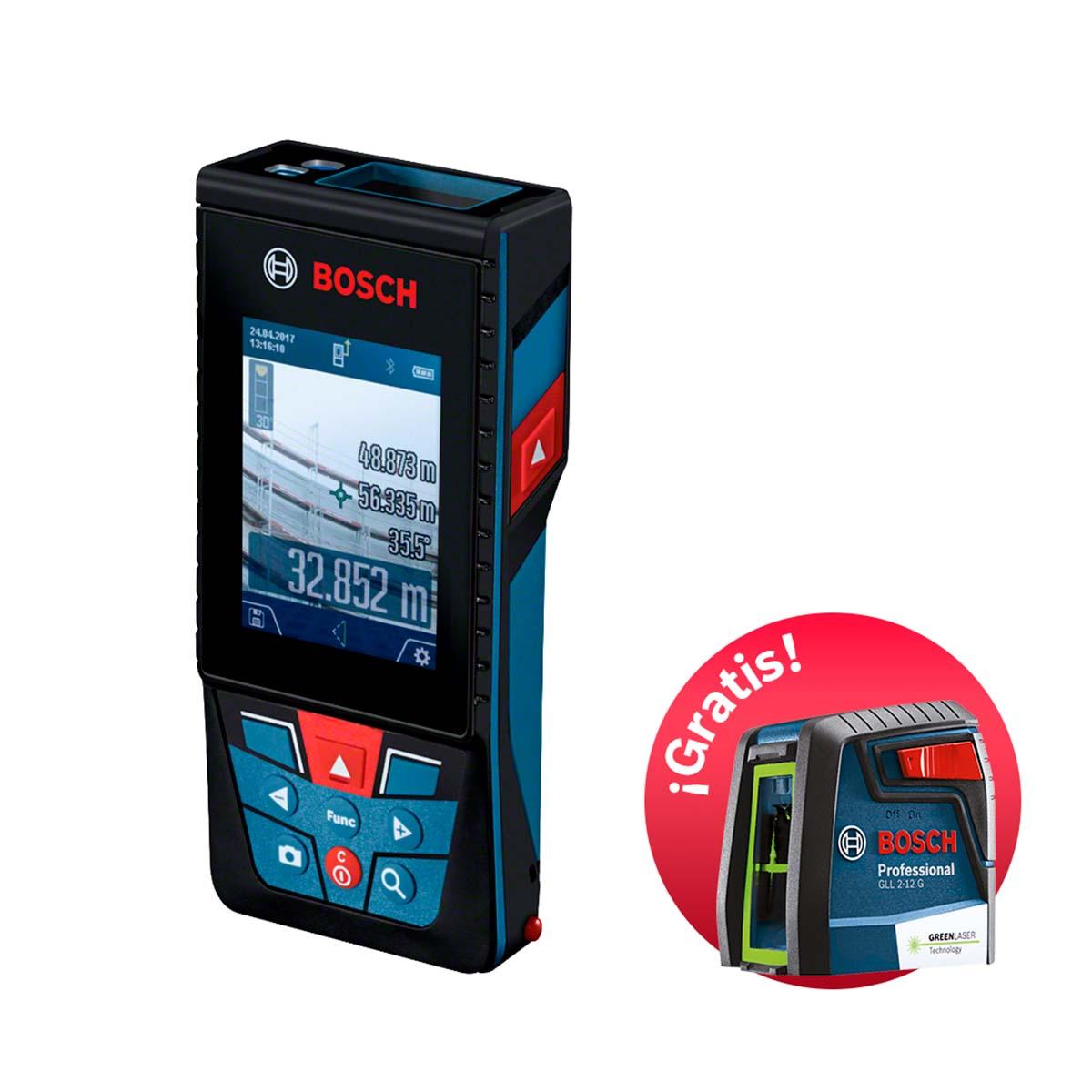 Medidor Laser de Distancias con Nivel Laser Gratis Bosch