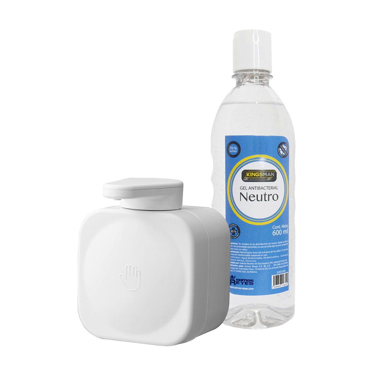 Despachador de Succión Blanco con Gel Antibacterial