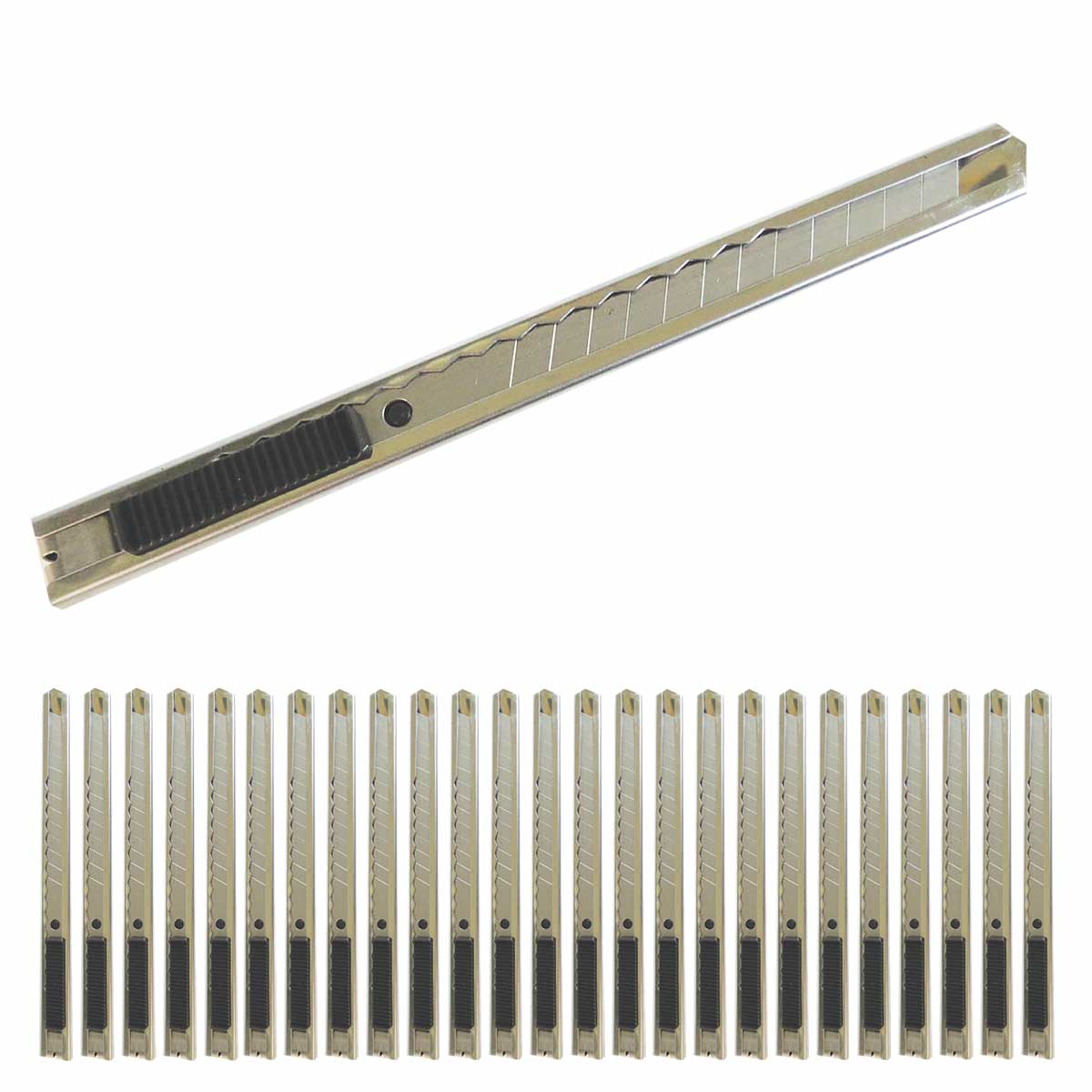 Navaja Cutter De Metal Con Clip Herramienta 25 pzs  Obi