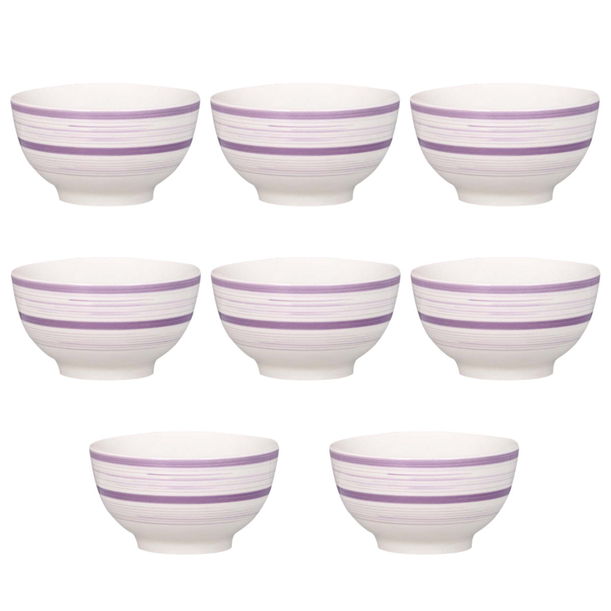 Bowl Tazon Set Hogar Mesa Ceramica 7 In 8 Pz Crown Baccara