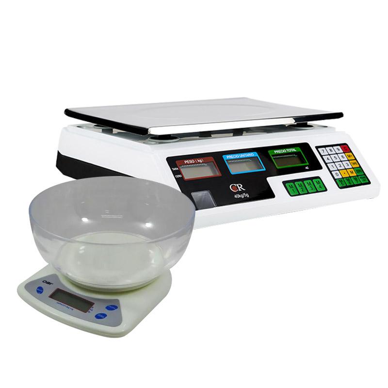 Bascula Comercial 40K + Bascula Multiusos 5 Kg Digital.