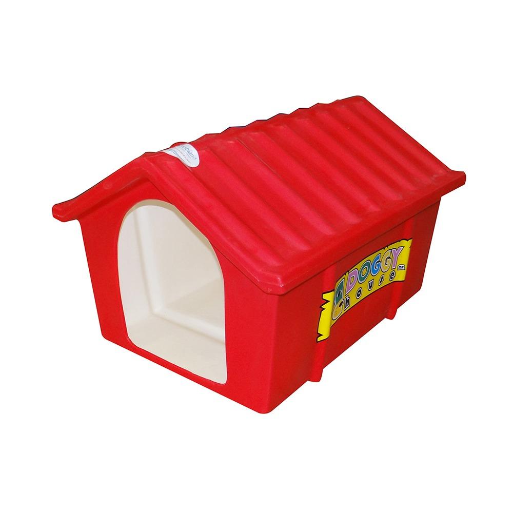 Casa Para Perro Clasica Estandar Rojo Doggy House