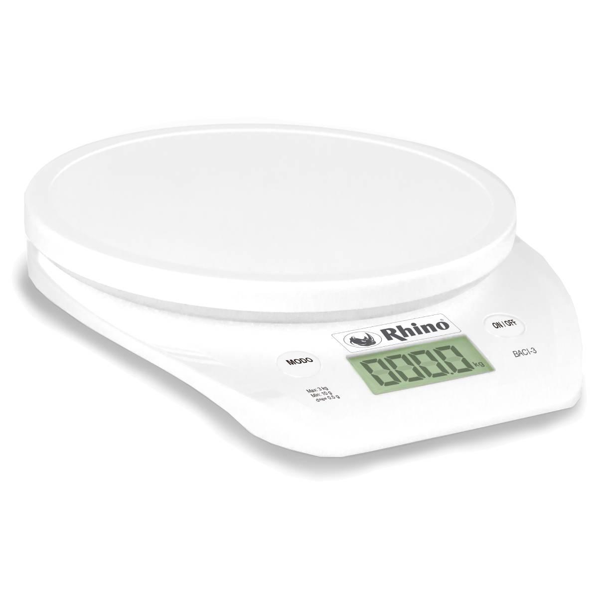 Bascula Electronica De Cocina Circular 3 kg BACI-3 Rhino
