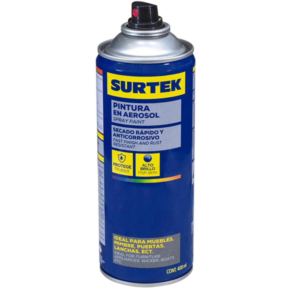 Pintura En Aerosol Spray Lata Blanco Mate 300Ml Hogar Surtek