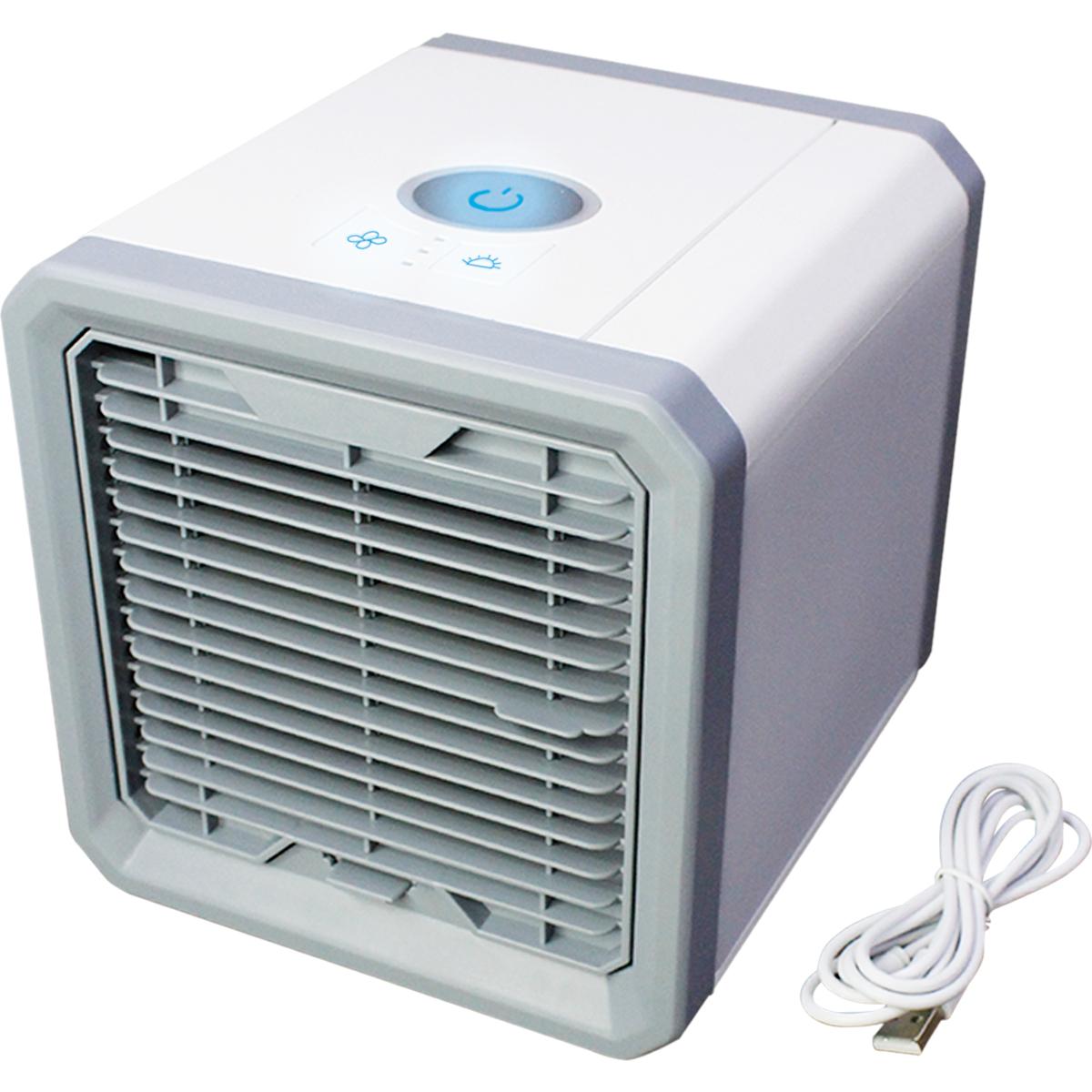 Mini Enfriador Evaporativo Portatil 3Vel LED Aire Frio Clima