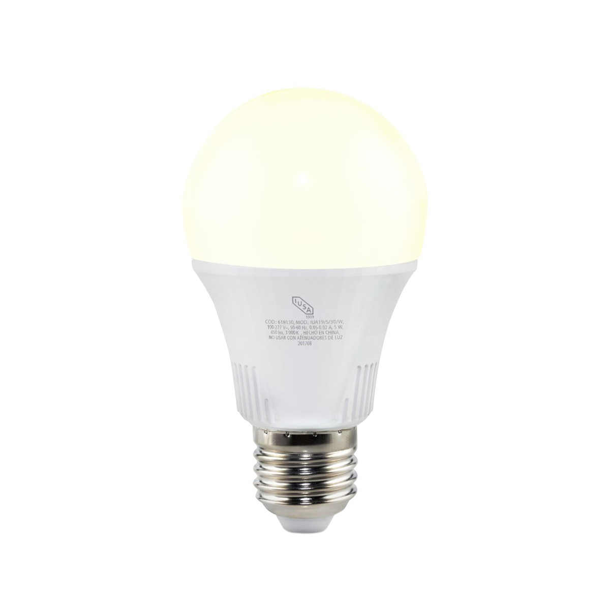 Foco Lampara Led A19 Luz Calida 9W Equivale 60 W 618311 Iusa
