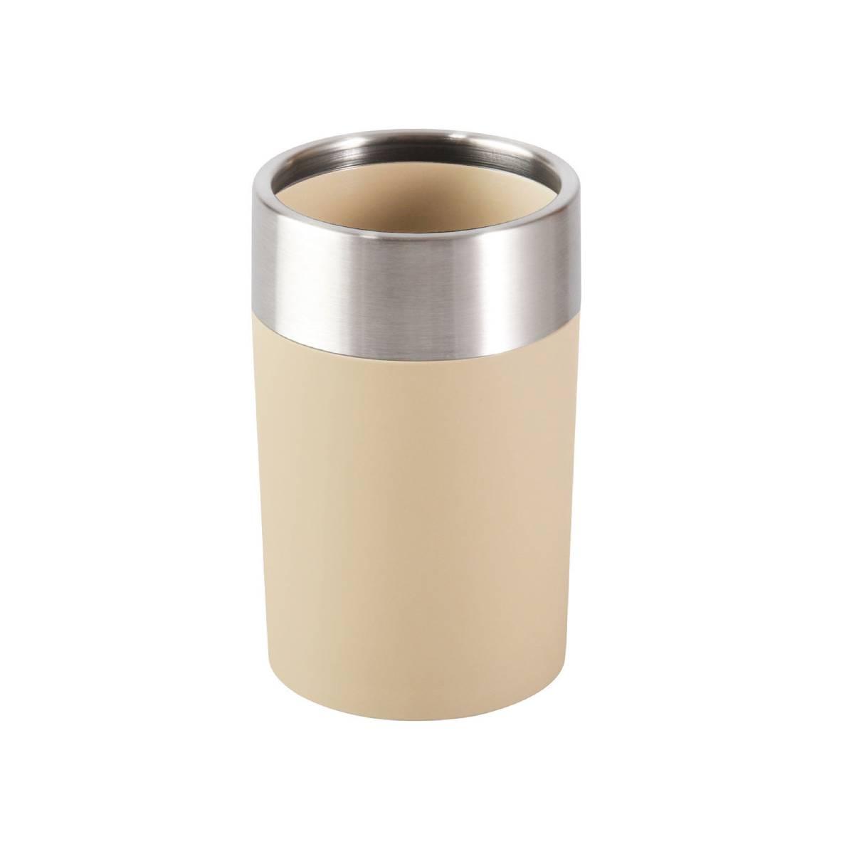 Vaso Acero Inox Y Pvc Caramelo BA-443735 Namaro Design