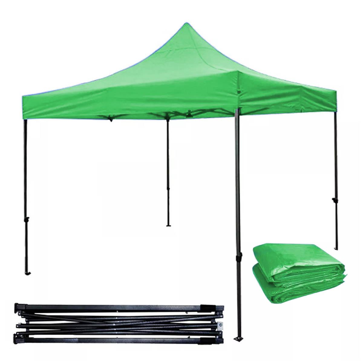 Toldo Carpa Impermeable Plegable Acero 3X3 M Verde Kingsman