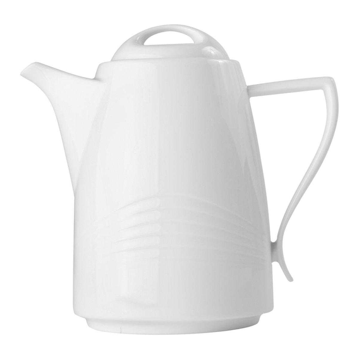 Tetera Tapa Redonda Porcelana 12L Blanco Crown Baccara