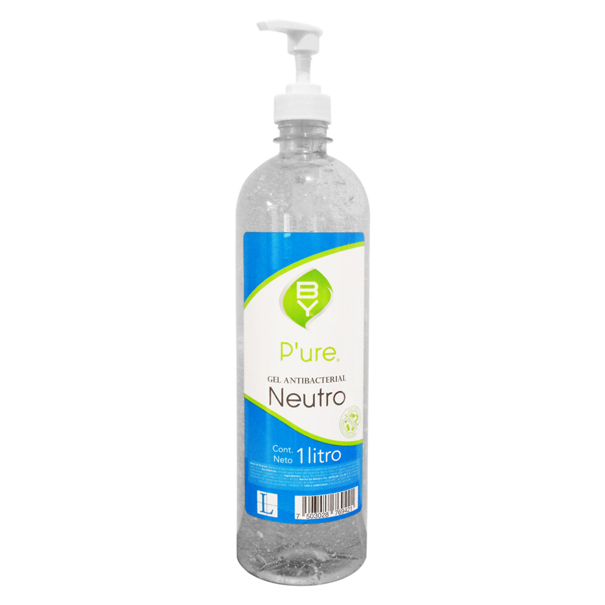 Gel Antibacterial Para Manos 1000 Ml 1Lt 70% Alcohol By Pure