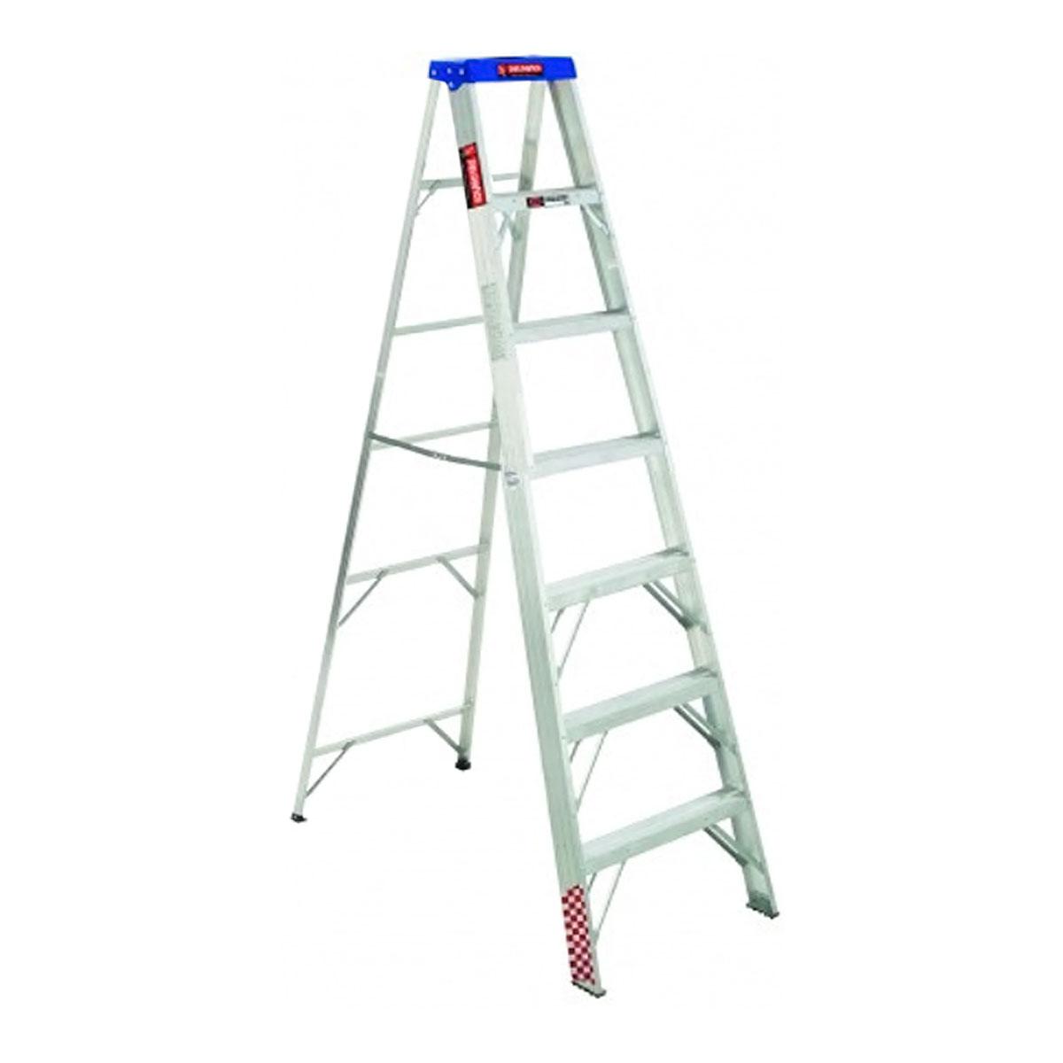Escalera Tijera Aluminio 7 Peldaños Tipo Ii 706789 Peldaños