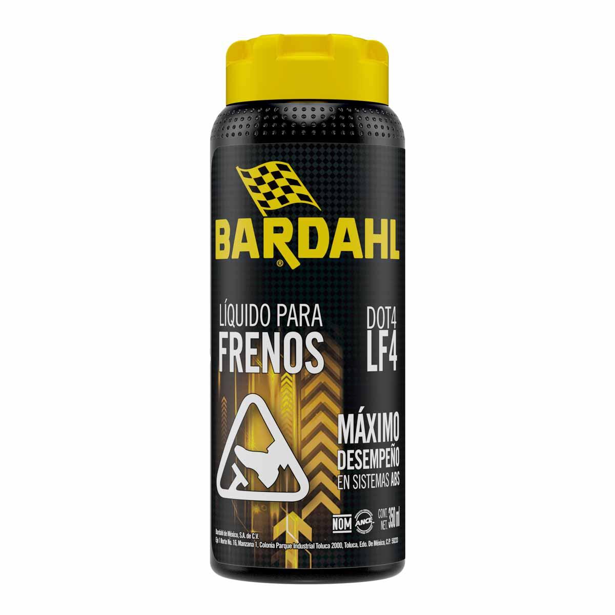 Liquido Para Frenos Disco Y Tambor Bardahl Dot-4 350 Ml