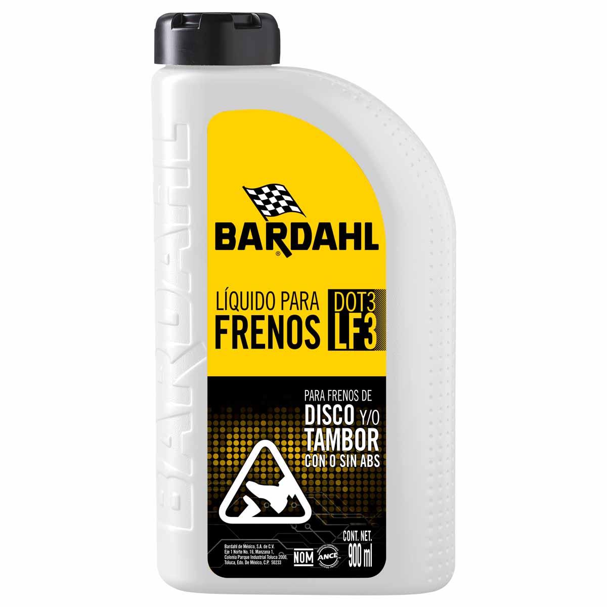 Liquido Para Frenos Disco Y Tambor Bardahl Dot-3 350 Ml