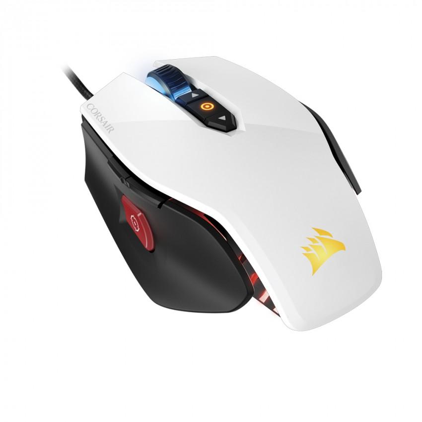 Mouse para juegos Corsair M65 PRO RGB Blanco