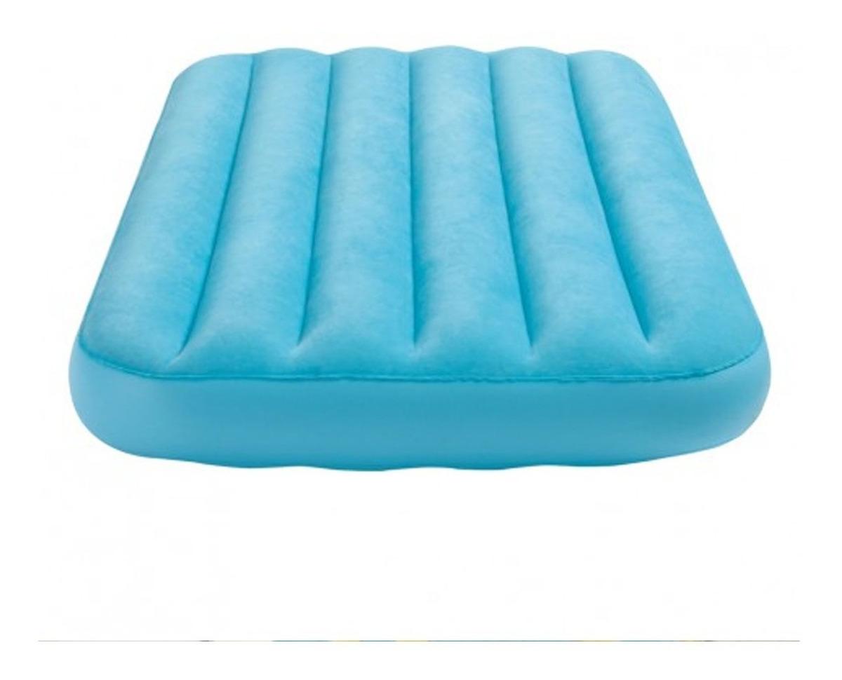 Colchon Inflable Para Niños 88 X 157 Cm Azul O Naranja Intex