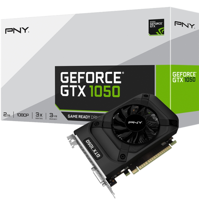 Tarjeta de Video NVIDIA PNY GeForce GTX 1050, 2GB GDDR5