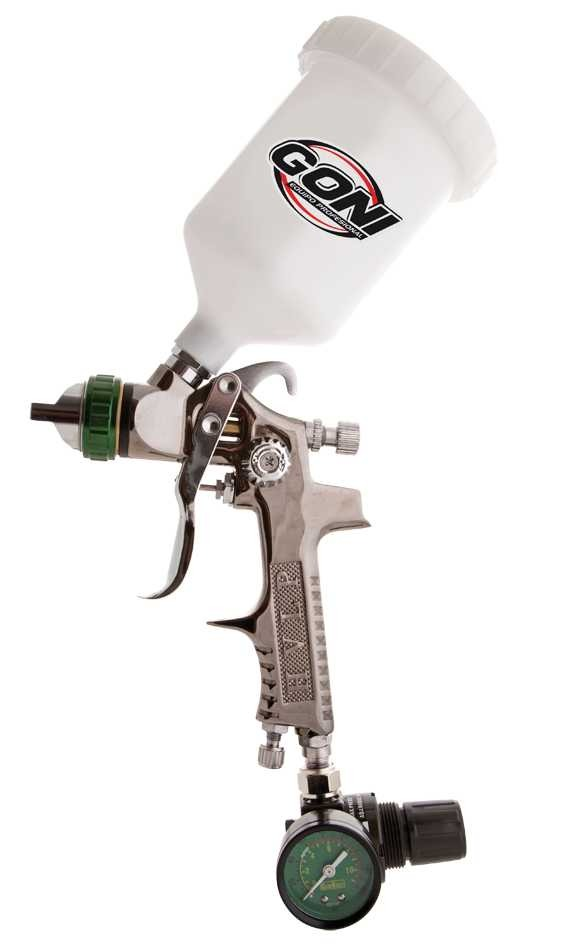 Pistola Hvlp Tornado Con Regulador Manometrro Y Tobera Goni