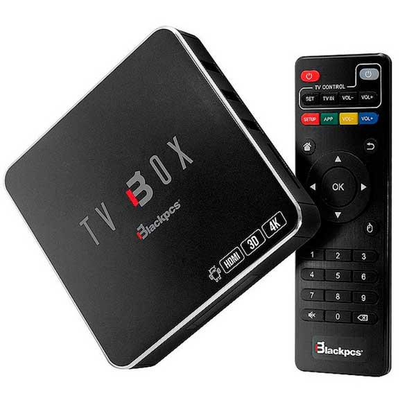 Smart TV Box BlackPCS UHD4K,QC 1/8GB WIFI/RJ45,USB,HDMI,AV And 6.0