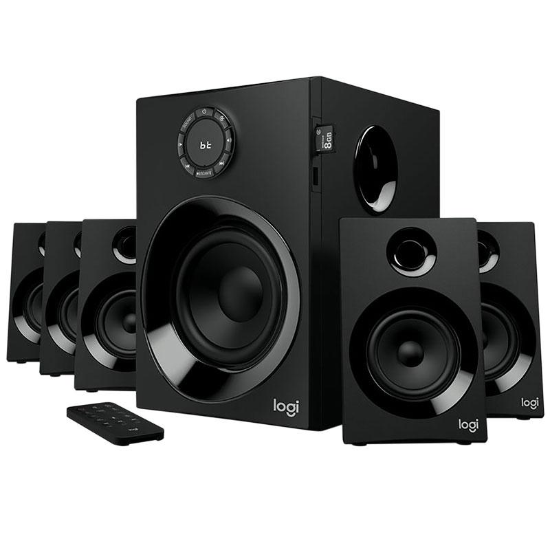 Bocinas Logitech Z607, 5.1, 160W, Bluetooth, Lector SD+FM+Control Remoto (980-001315)
