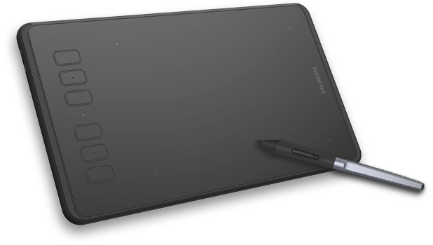 Tableta Huion H640P Only Pen 6 Teclas, Small 16x10Cm
