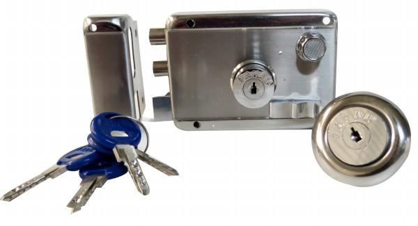 Cerradura de Sobreponer Abatir Alta Seguridad Inoxidable 180Rbd Fanal